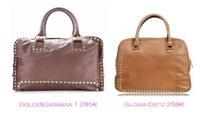 Parecidos razonbles: Bolsos tachuelas: Dolce&Gabbana - Gloria Ortiz