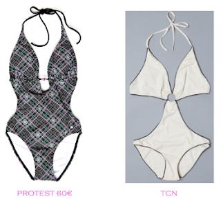 Comparativa precios trikinis para delgadas: Protest 60€ vs TCN