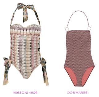 Comparativa precios bañadores para delgadas: Missoni 460€ vs Dos Mares