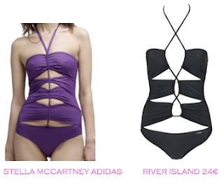 Comparativa precios trikinis para las delgadas: Stella McCartney para Adidas vs River Island 24€