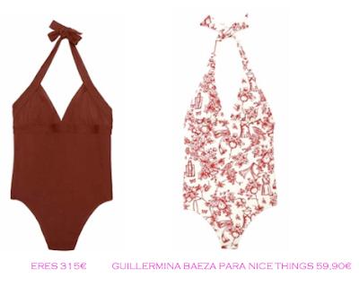 Comparativa precios bañadores rellenitas: Eres 315€ vs Guillermina Baeza para Nice Things 59,90€