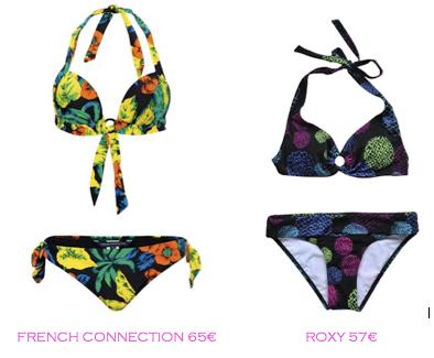 Comparativa precios bikinis para mucho pecho: French Connection 65€ vs Roxy 57€
