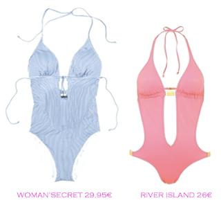 Comparativa precios trikinis para delgadas: Woman'Secret 29,95€ vs River Island 26€