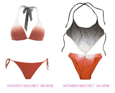 Comparativa precios bikini 39,90€ y trikini 34,95€ Woman'Secret