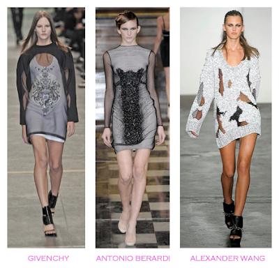 Parecidos Razonables: Transparencias: Givenchy-Antonio Berardi- Alexander Wang