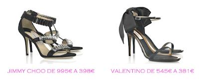 Tienda online: Net-a-porter: Sandalias: Jimmy Choo 398€ vs Valentino 381€