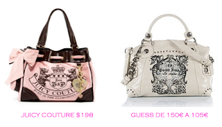 Parecidos Razonables: Juicy Couture $198 vs Guess 105€
