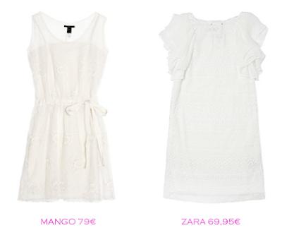 Comparativa precios: Vestidos lenceros: Mango 79€ vs Zara 69,95€