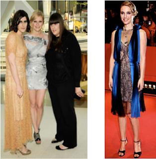 Las hermanas Mulleavy con su musa Kristen Dunst. En la otra imagen Natalie Portman gran seguidora Rodarte