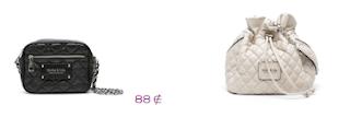 Lo más en marcas: Bimba y Lola: Bolso negro estilo Chanel 2.55 88€ y mochila acolchada en color crudo