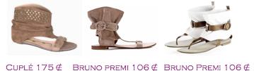 Comparativa precios 2010: Sandalias planas militares: Cuplé 175€ - Bruno Premi 106€ - Bruno Premi 106€