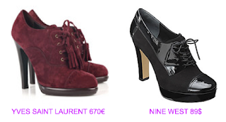 Abotinados estilo british 4 YSL vs Nine West