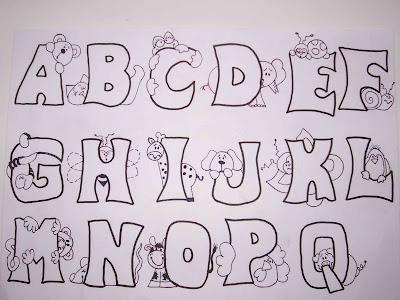 alfabeto ilustr1 Alfabeto Ilustrado para crianças