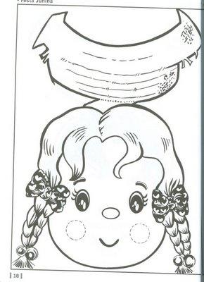 Figuras de São João para colorir MundodasTribos - imagens para colorir sao joao