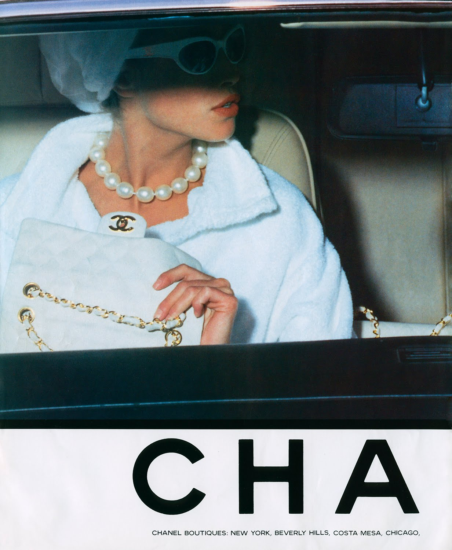 models own vintage chanel ad