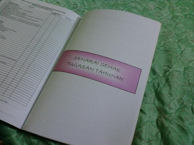 senarai semak tugasan tahunan tugasan semasa cuti sekolah