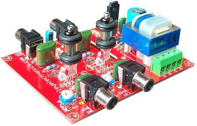 K295 stereo tube sound line buffer Amplifier kit(Oatley Electronics