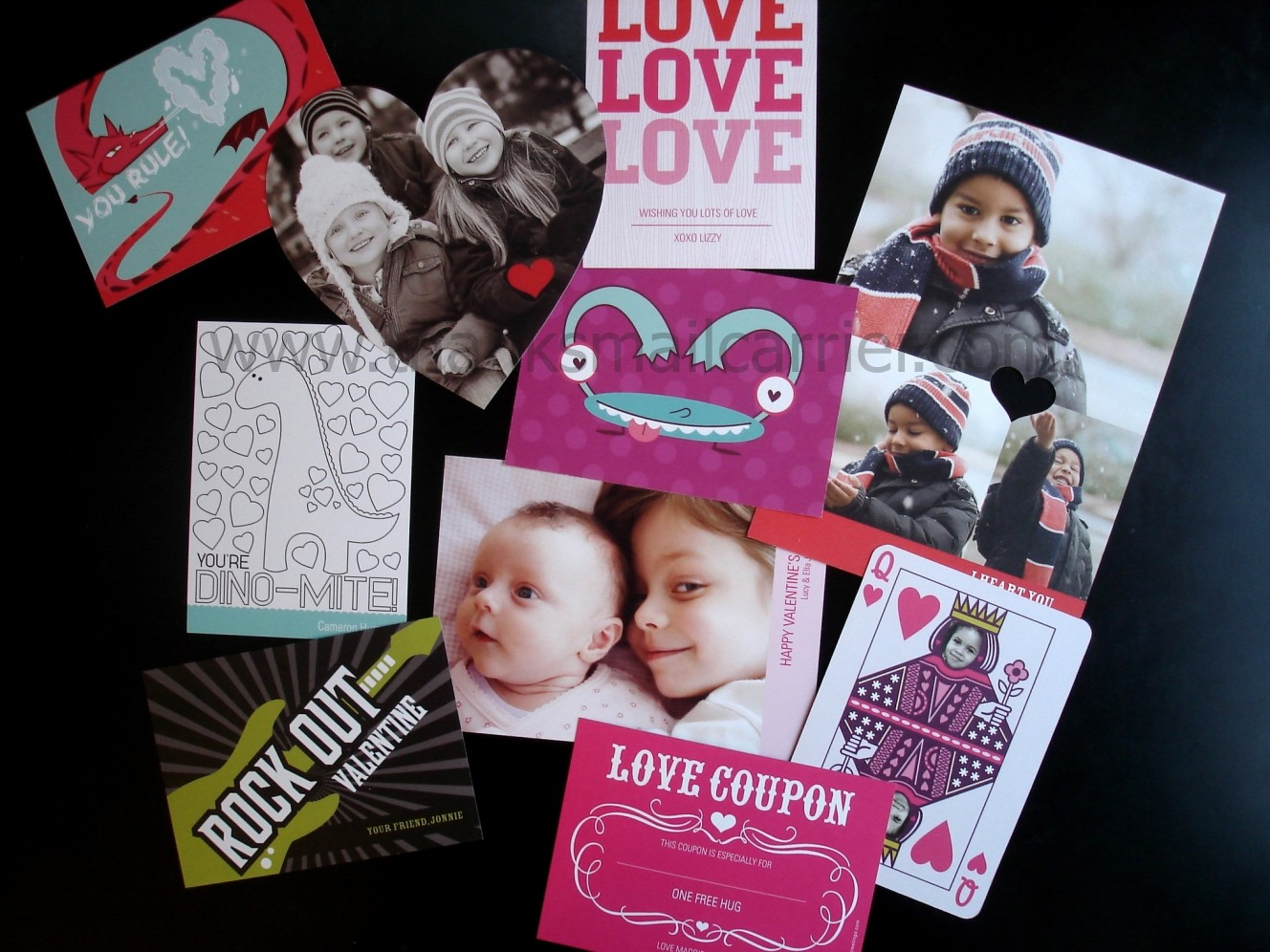 Thanks Mail Carrier Pear Tree Greetings Valentines Day Cards
