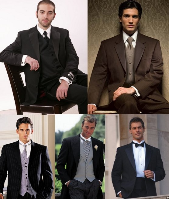 For a semiformal or formal wedding tuxedo suit is best