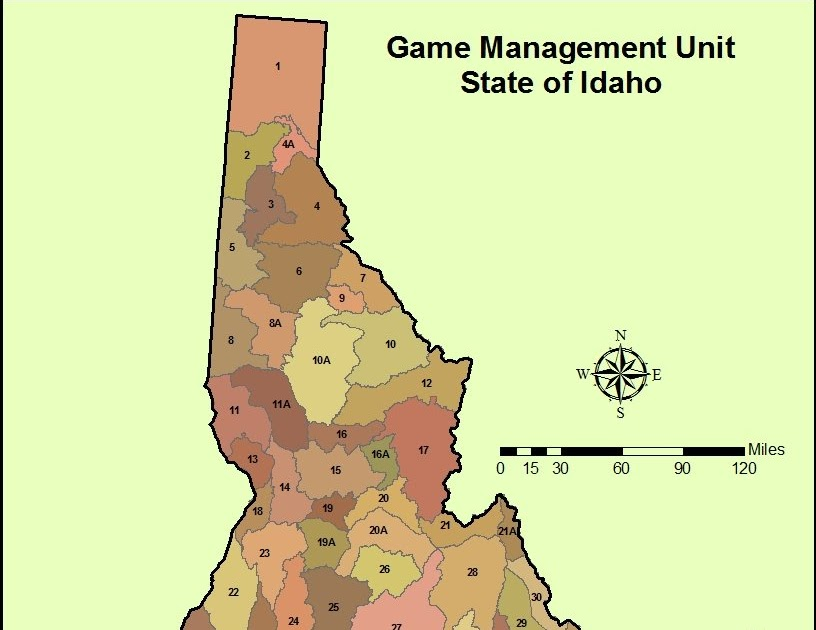 Applications in gis for Idaho fish and game maps