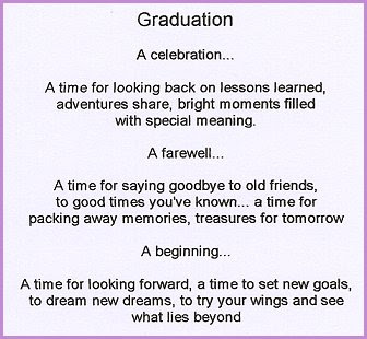 High School Graduation Poems