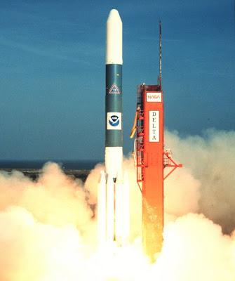 Lanzamiento del cohete Delta 3194. Créditos: NASA.