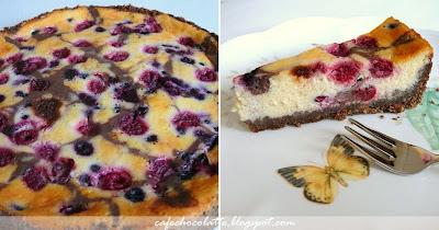 Vişneli Frambuazlı Likapalı Çikolatalı Cheesecake