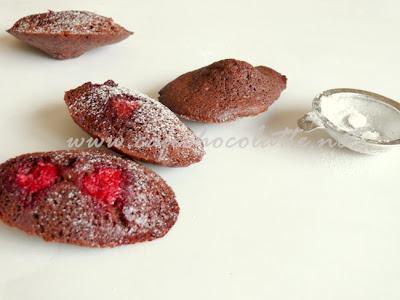 Çikolatalı Frambuazlı Madlen Kek  Madeleines