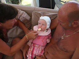 Bestefar Janse, bestemor Lise og meg