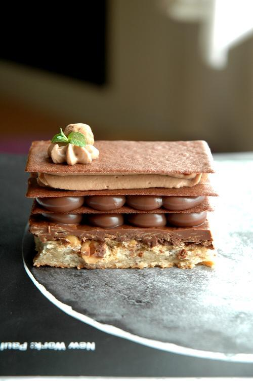 chocolate hazelnut napoleon...