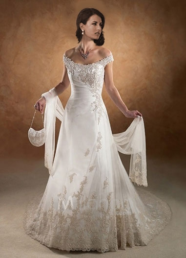Bridal wedding dresses a line wedding dresses for Satin a line wedding dress