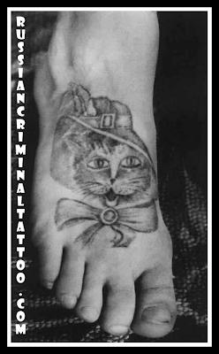 Значение тату кот в тюрьме