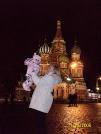 Trip 3, Holly and Cassi at St. Basil's Cathedral, Moscow