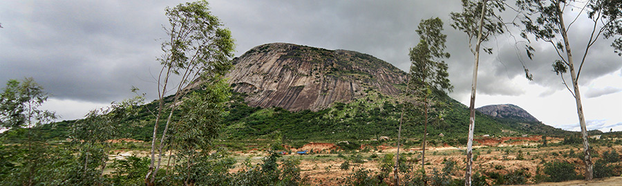 Panoramic view of Nandi Hills as seen from the nearest villate