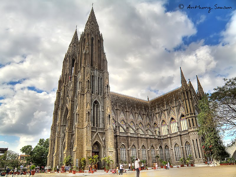 HDR image of st Philomenas Cathedral, Mysore