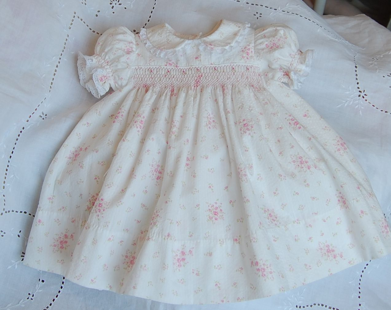 Smocked Dresses for Infant Baby Girls Infant baby girls smocked dresses delicately hand embroidered, with colorful threads on fine fabrics like % Pima Cotton and Silk Dupioni. These girls dresses are perfect for your little girls special occasion.
