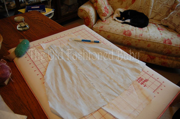The Old Fashioned Baby Sewing Room How To Transfer An Embroidery