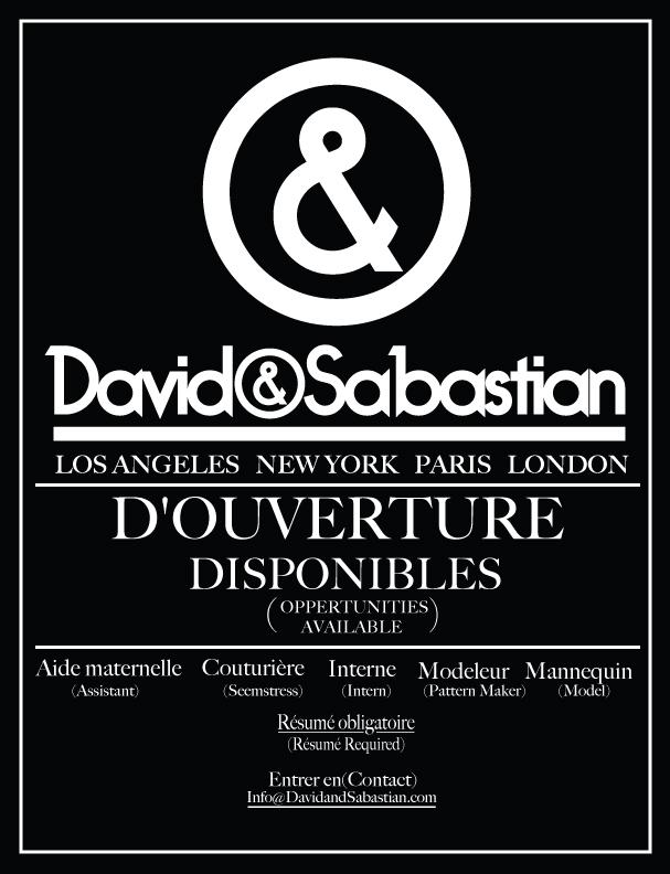 "DAVID SABASTIAN ""D'OUVERTURE DISPONIBLES"""