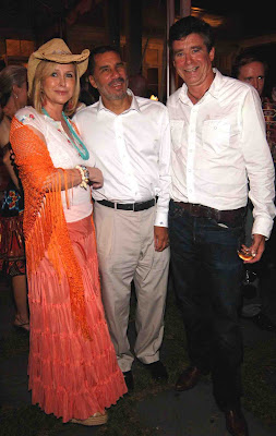 Kathy Hilton With Governor Paterson And Jay McInerney