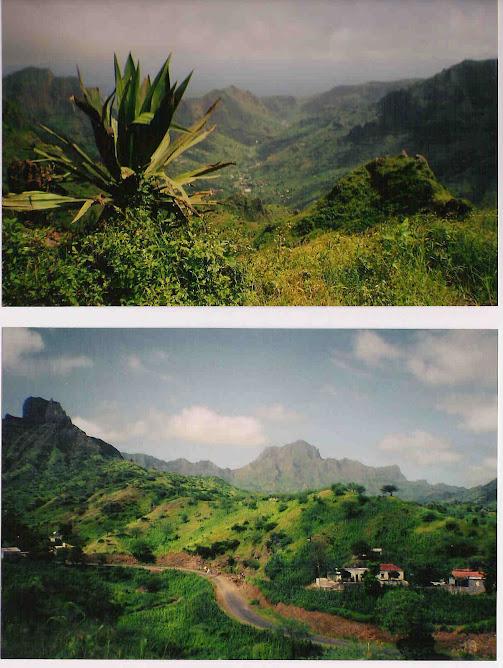 Isla de Santiago, abrupta,verde, hermosa.