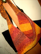 Bag End felted mushroom bag
