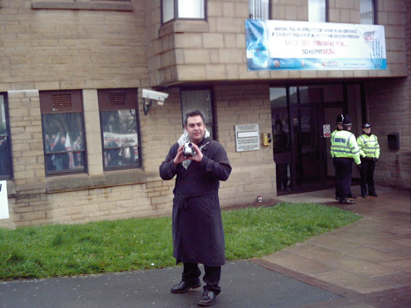 Filming the BNP outside Halifax Police Station
