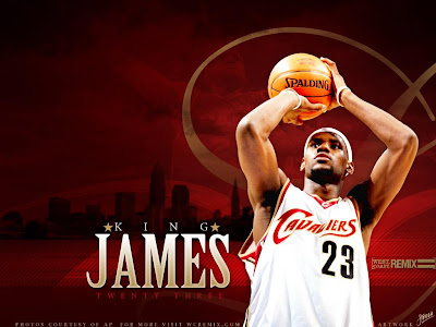 lebron james wallpaper. Wallpaper: Lebron James Shoot