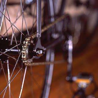 Foto artística de uma bicicleta