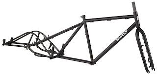 Quadro preto surly para cicloturismo,cicloviagem,etc,...