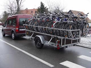 Reboque para carregar várias bicicletas