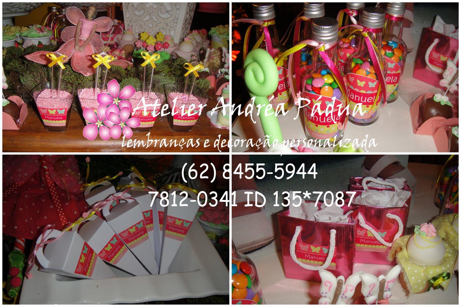 , doces e decoração personalizada aniversário Manuela 1 ano