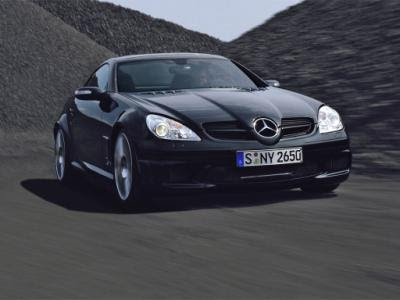 The Mercedes SLK 55 Black