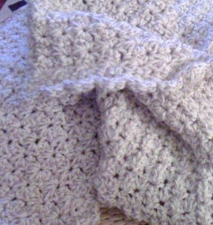 Free Crochet Pattern - Shell Stitch Baby Blanket from the Baby
