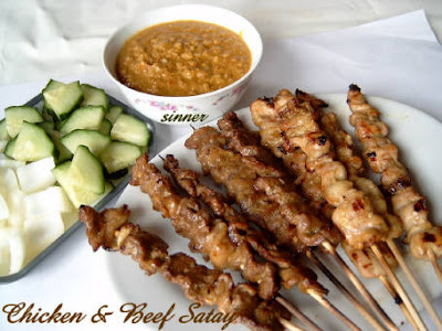 Chicken n Beef Satay